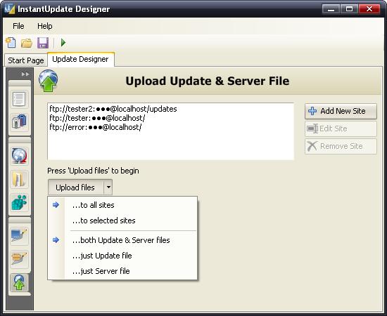 InstantUpdate Designer Release Candidate