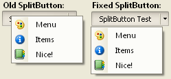 Right clicking SplitButton
