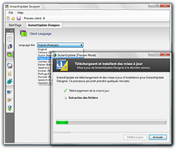 InstantUpdate RC2 multilingual support