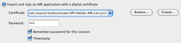 Sign your AIR app