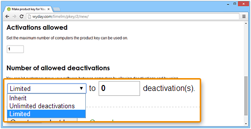 Limiting the number of deactivations
