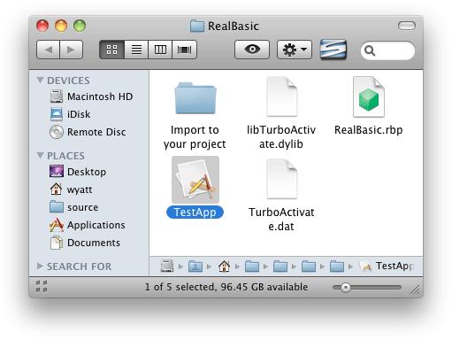 RealBasic app bundle