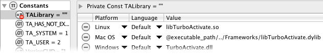 Specify the TA library