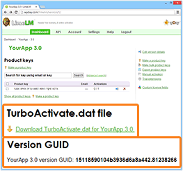 TurboActivate.dat and Version GUID