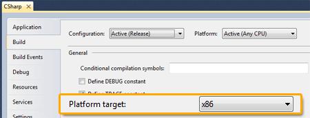 Target platform x86
