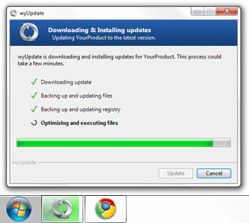 wyUpdate using Windows 7 Progress Bar