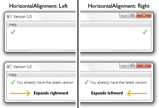 HorizontalAlignment example