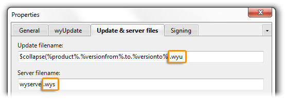 changing the file extensions