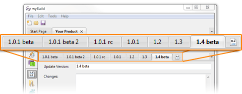 version numbers in wyBuild