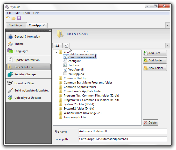 Walkthrough for wyBuild, wyUpdate, and the AutomaticUpdater