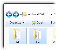 Version folders