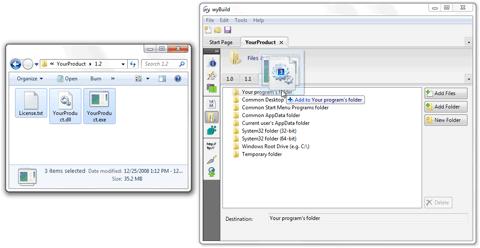 Adding files to wyBuild