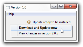 AutomaticUpdater - update available