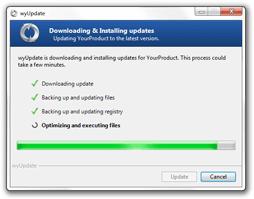 wyUpdate installing an update